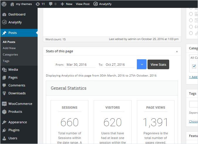 Analytify Page Level Analytics