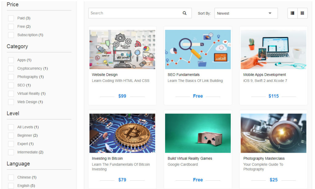 Edivently Course Marketplace Screenshot
