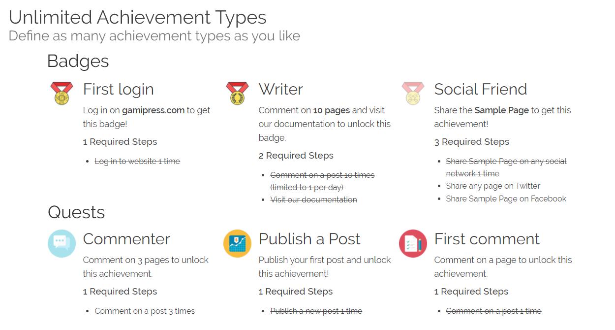 GamiPress Screenshot - Achievement Progress