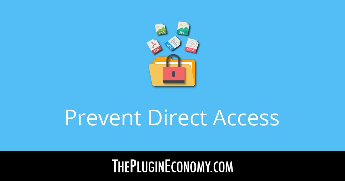 Prevent Direct Access