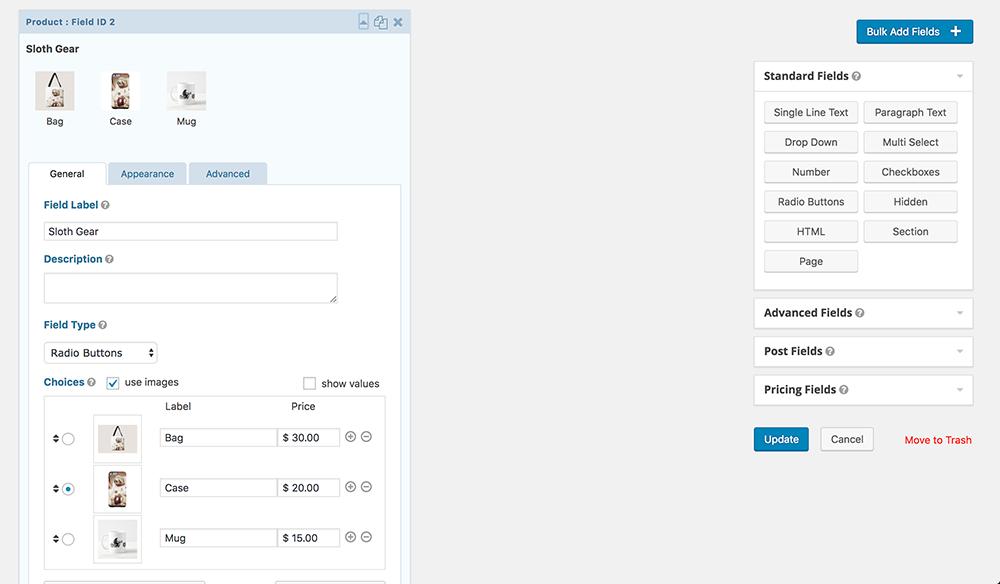 JetSloth Screenshot: Image Choices