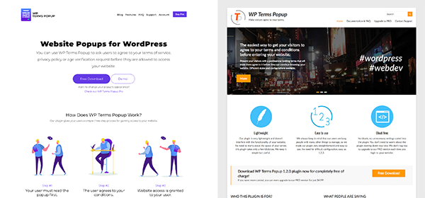 WP Terms Popup Site Redesign