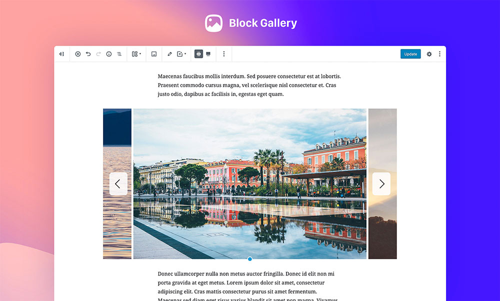 Block Gallery Screenshot