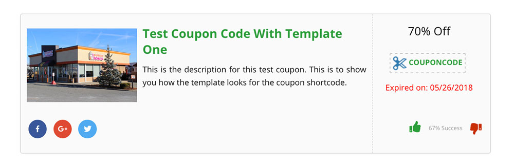 WP Coupons and Deals Example