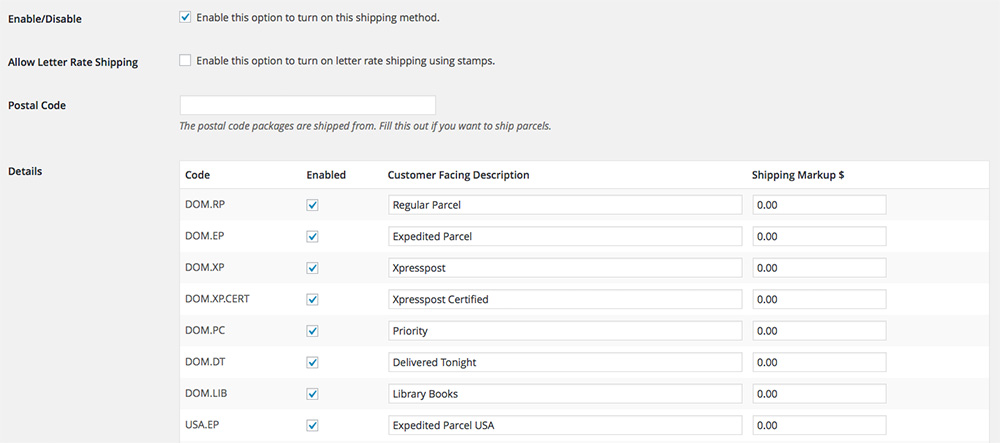 Canada Post Shipping For WooCommerce